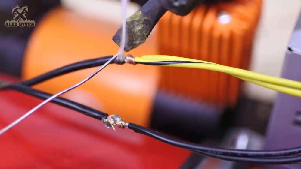 Самодельный компрессор с ресивером из огнетушителя шаг 55