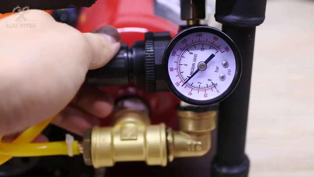 Самодельный компрессор с ресивером из огнетушителя шаг 74