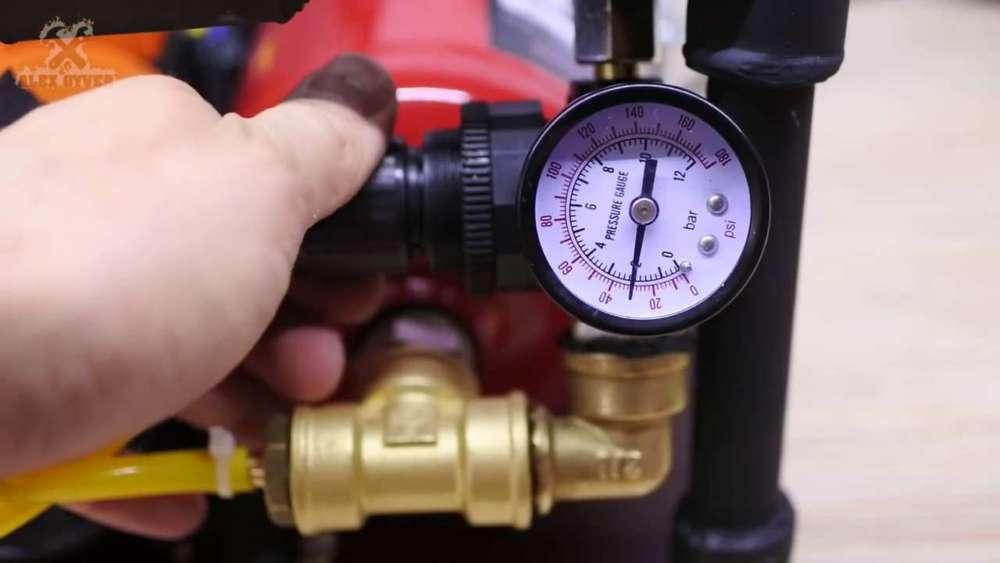 Самодельный компрессор с ресивером из огнетушителя шаг 75
