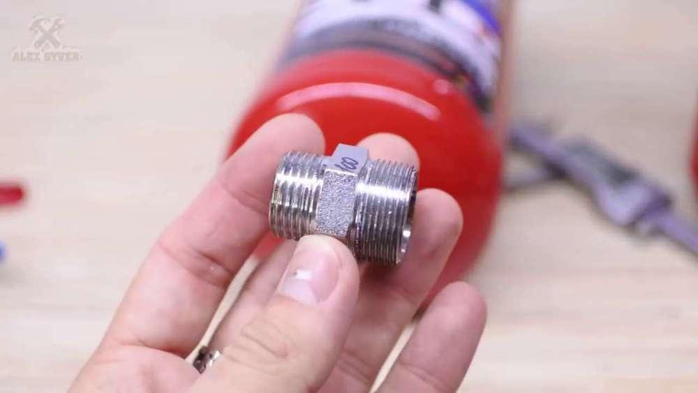 Самодельный компрессор с ресивером из огнетушителя шаг 8