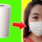 Как за пару минут сделать медицинскую маску из бумажного полотенца