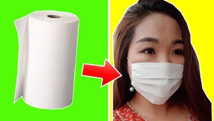 медицинская маска из бумажного полотнеца