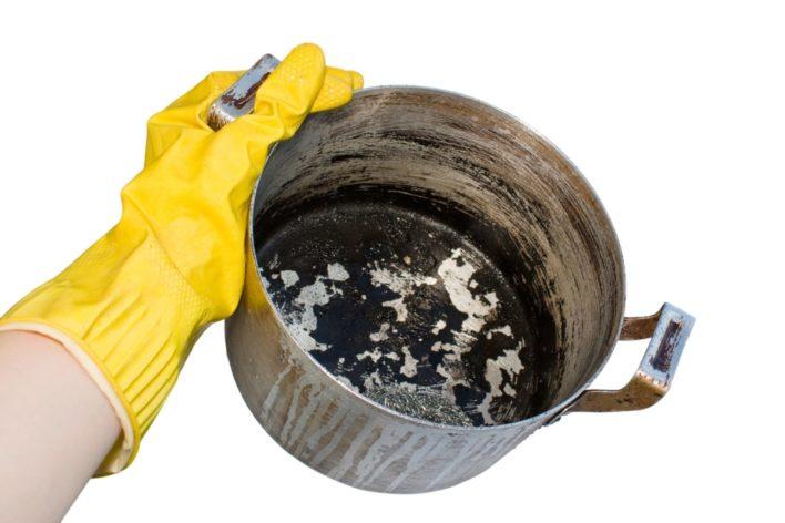 как очистить кастрюлю