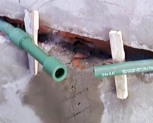 ремонт ПП-трубы