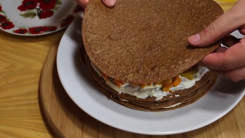 печеночный торт из печени шаг 19