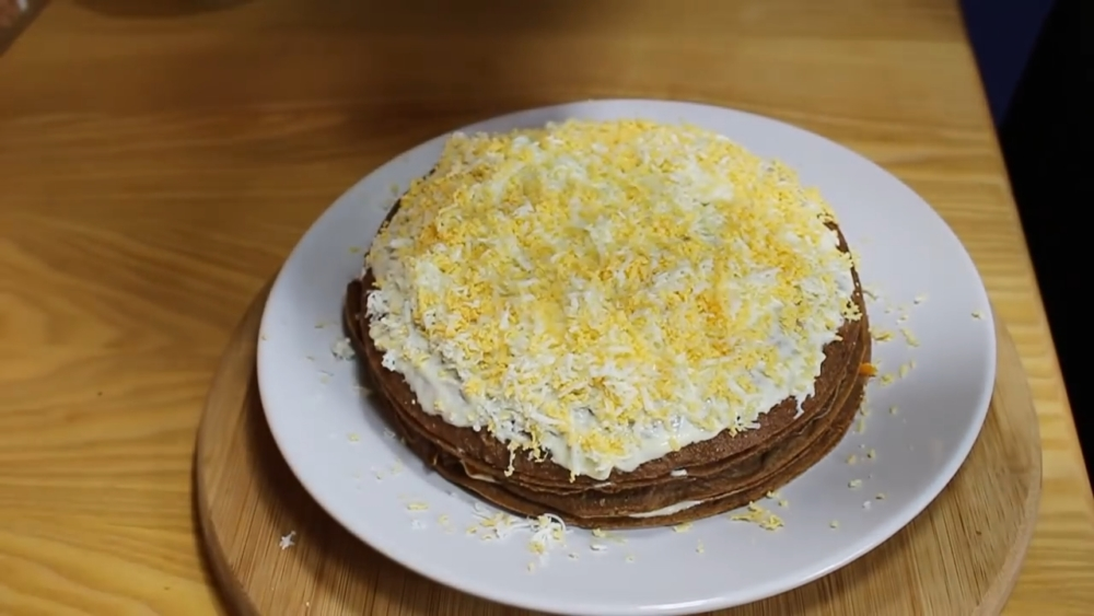печеночный торт из печени шаг 21