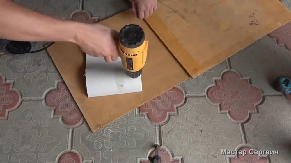 изготовление листового пластика, шаг 4