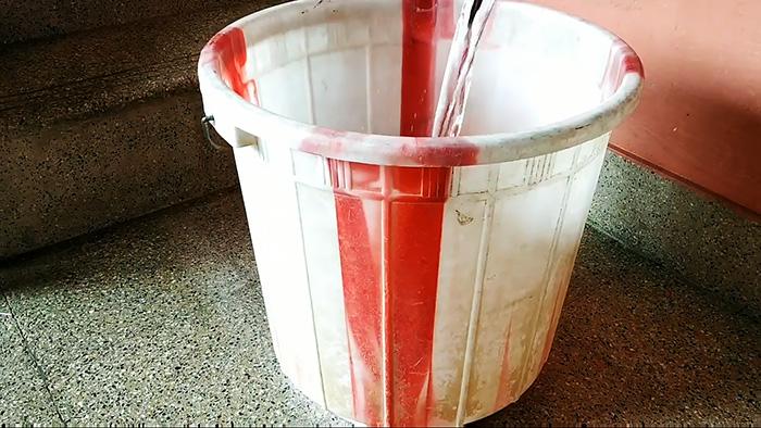 как заделать трещину в пластиковом ведре